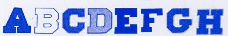 """Chenille Plain Or Full Block One Color Letters (6"""")"""