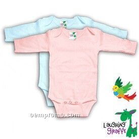 Poly Cotton Blend Infant Long Sleeve Onesie ( Pastel Colors)