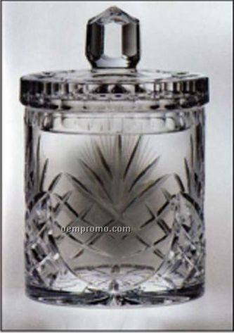 Raleigh Biscuit Barrel Jar-crystal With Lid