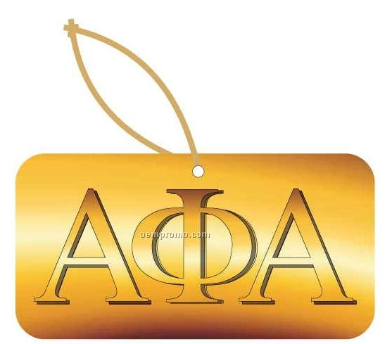 Alpha Phi Alpha Fraternity Letters Ornament W/ Mirror Back (2 Square Inch)