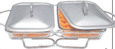 Maxam Twin Oblong Food Warmers