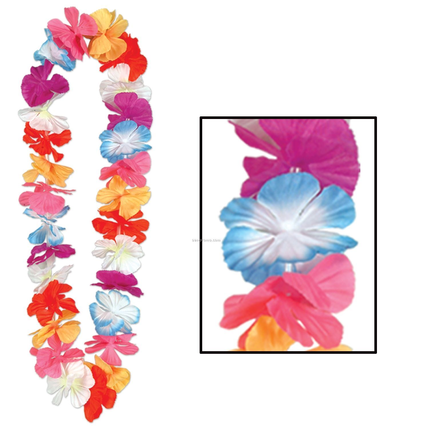 Silk `n Petals Parti Color Leis