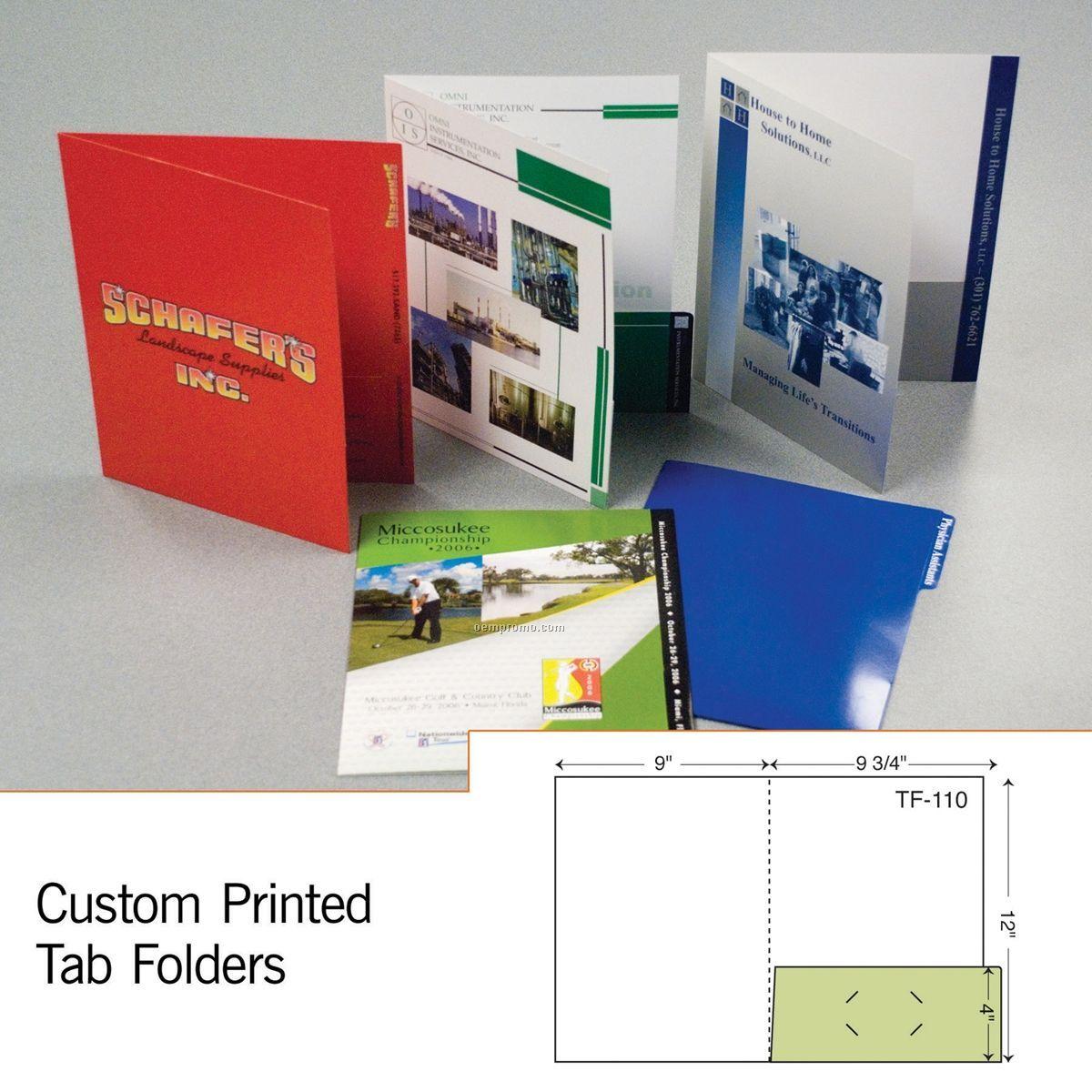 Tab Folder W/ Right Pocket & 1 Tab (1 Color/1 Side)