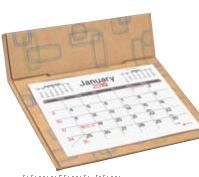 V Natural 3 Month Jumbo Pop Up Calendar W/ Mono Print (After 8/1/2011)