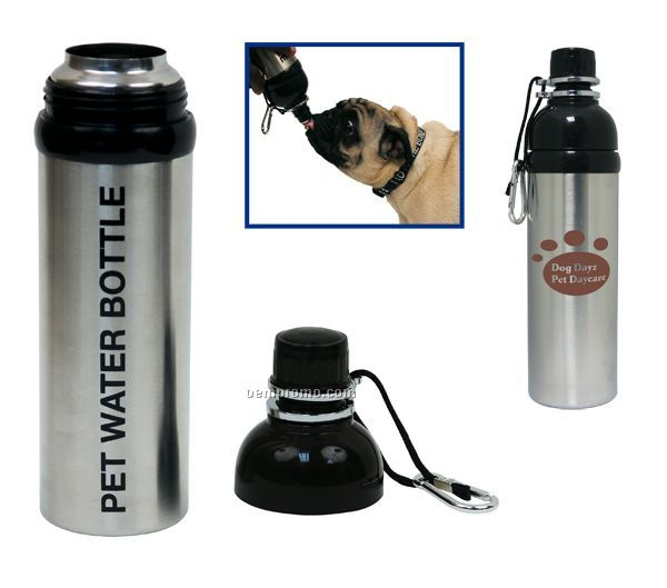 24oz / 709ml Pet Stainless Steel Water Bottle