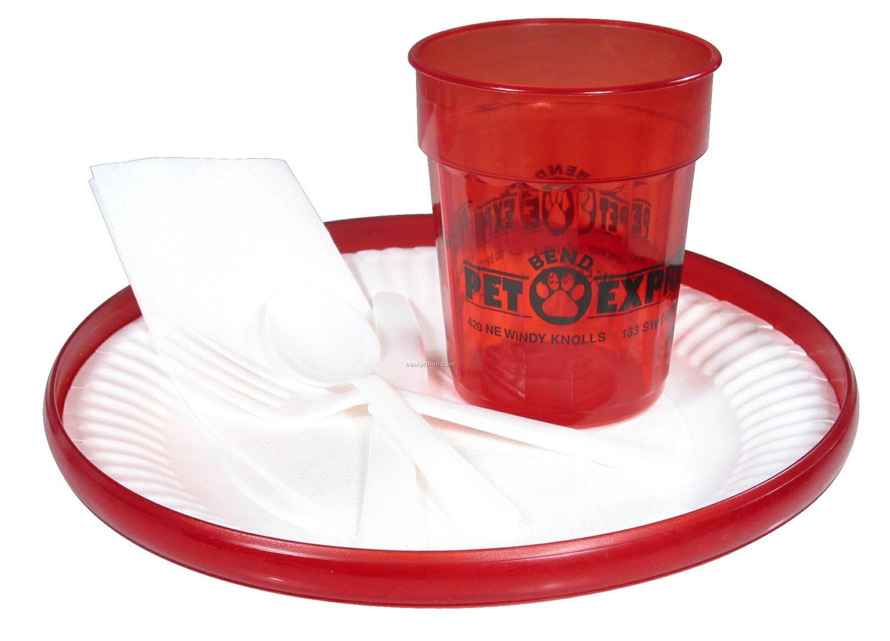 "Humphrey Jewel Buffet Kit W/9-1/4"" Flyer & Stadium Cup"