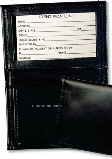 Leather Card Case W/ Leather Pocket - Regency Cowhide Leather
