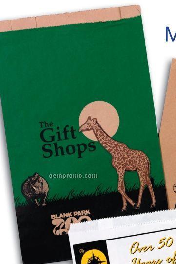 """Custom Printed Natural Kraft Paper Merchandise Bag / Large Run (14""""X3""""X21"""")"""
