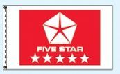 Individual Flag On Replacement Staff - For Cluster Set (Five Star Red)