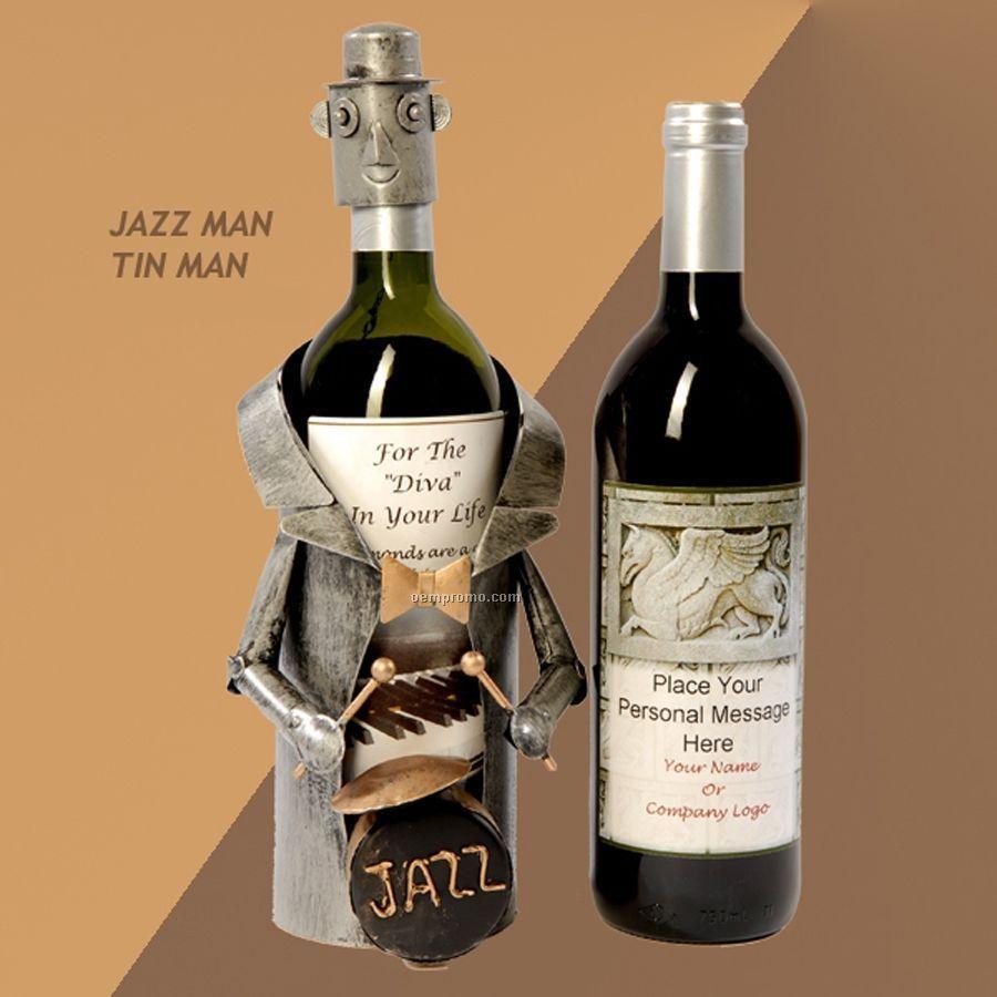 Jazz Tin Man Wine Caddy