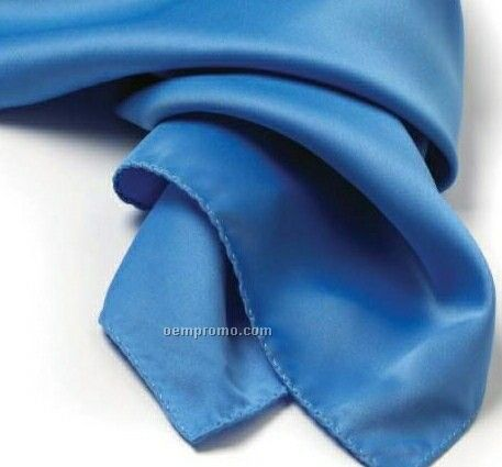 """Wolfmark Solid Series French Blue Polyester Satin Scarf (21""""X21"""")"""