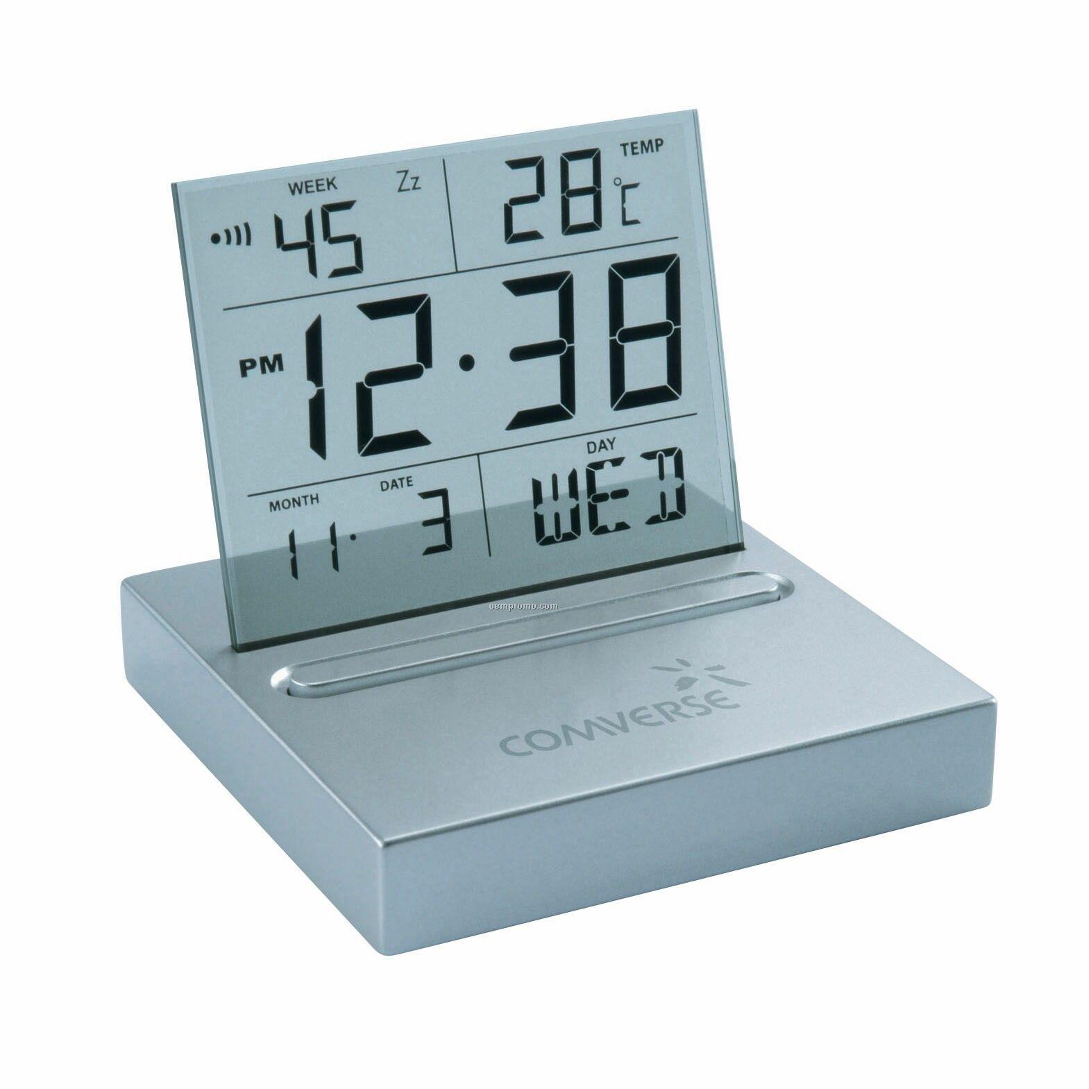 Flagstone Desktop Clock (6 1/2cmx6 1/2cmx5 4/5cm)