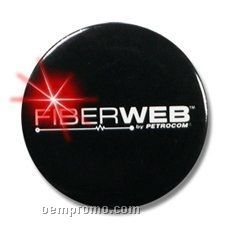 "Round Light Up Button W/ Red Or Orange LED (2 1/2"")"