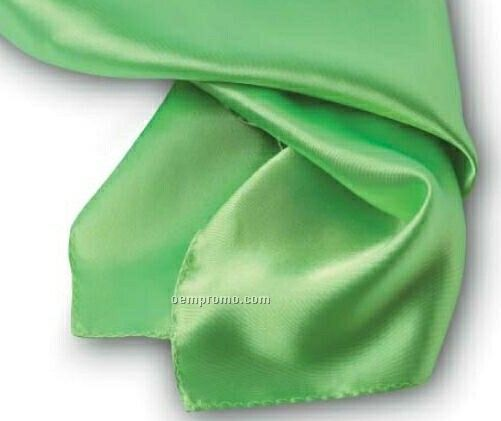 """Wolfmark Solid Series Lime Green Polyester Satin Scarf (21""""X21"""")"""