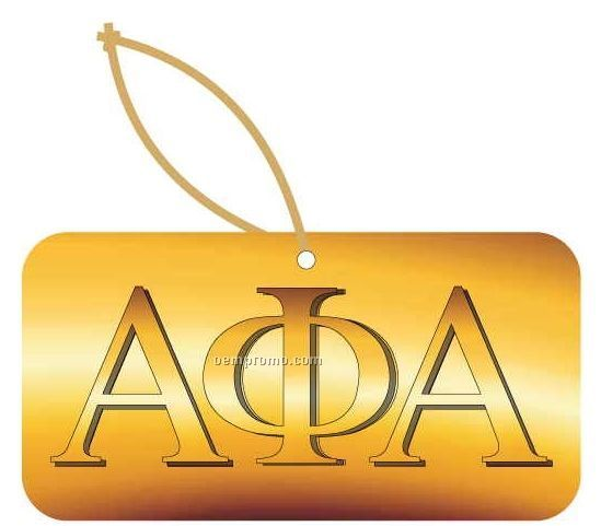 Alpha Phi Alpha Fraternity Letters Ornament W/ Mirror Back (4 Square Inch)