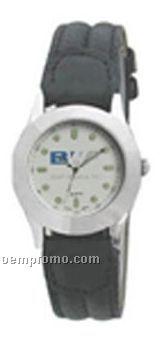 Cititec Ladies Analog Quartz Watch (Black W/ White Face)