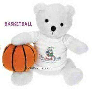 Stock Stuffed Basketball Sport / Athletic Bear