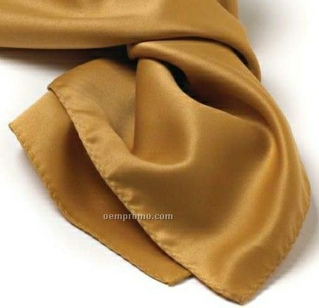 """Wolfmark Solid Series Vegas Gold Polyester Satin Scarf (21""""X21"""")"""