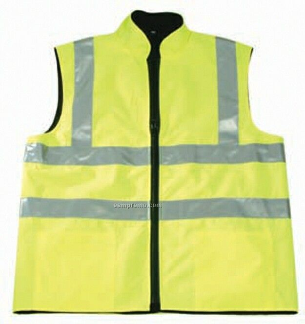 High Visibility Polyester Oxford Safety Vest
