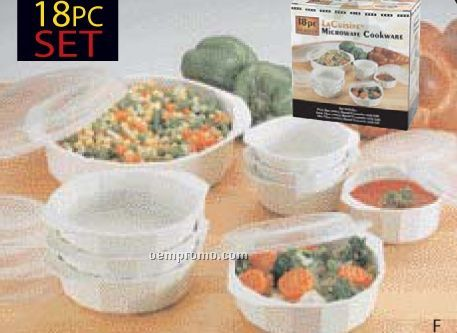 Lacuisine 18 PC Microwave Cookware Set
