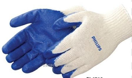 Blue Latex Palm Coated Gloves (S-xl)