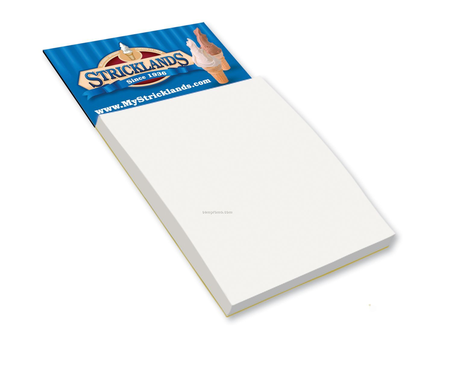 Peel & Stick Business Card Magnet W/ Blank Pad (2 Day Service)
