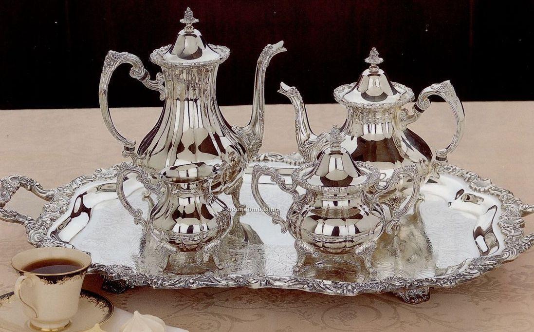 Silverplated Loveland Rose 5-piece Tea Set