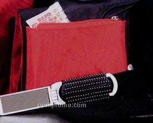 Travel Accessory Kit In Red Make Up Carrying Case