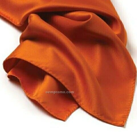 "Wolfmark Solid Series Orange Polyester Satin Scarf (21""X21"")"