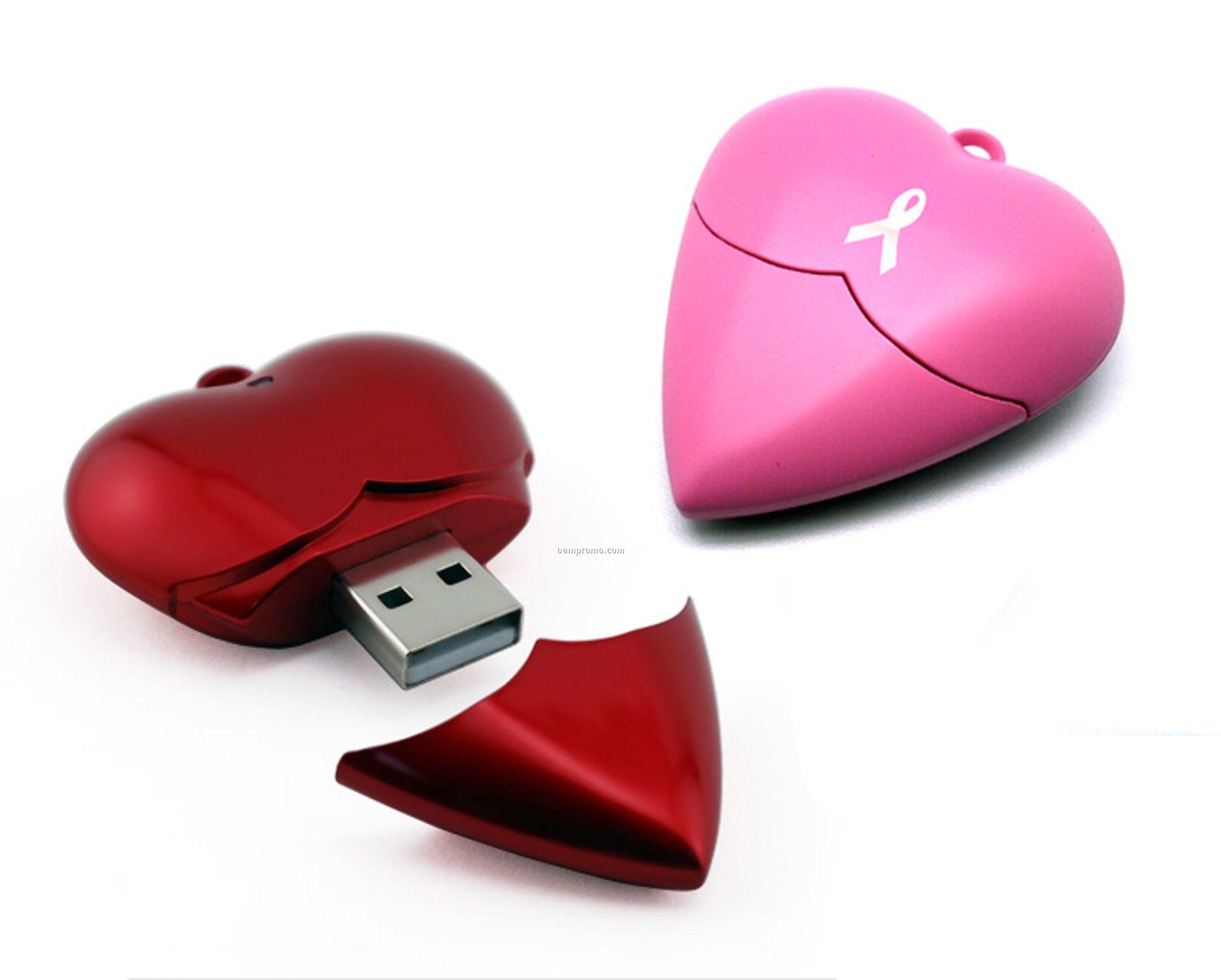 4 Gb Specialty 900r Series USB Drive - Heart