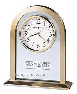 Howard Miller Imperial Brass Finish Desk Clock (Blank)