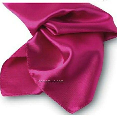"""Wolfmark Solid Series Fuchsia Polyester Satin Scarf (21""""X21"""")"""