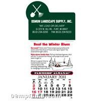 Farmer's Almanac Press-n-stick Calendar (Thru 08/01/2011)