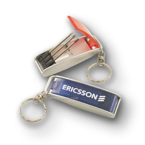 Mini Tool Kit Keyring With Light