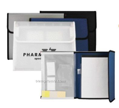Padfolio With Pad & Expandable File With CD Holder
