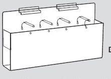Slatwall Display Accessories / 5-pocket Brochure Holder