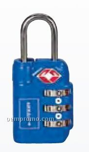 Soren Blue 3 Dial Travel Sentry Approved Luggage Lock