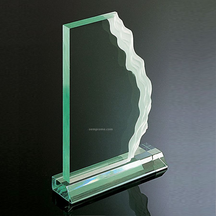 Jade Green Wave-length Award - Horizontal Mount