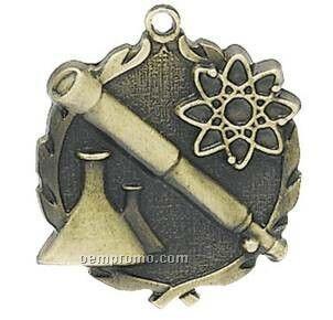 "Medal ""Science"" - 1-3/4"" Wreath Edging"
