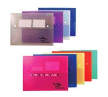 Portable File With 2 Button Closure