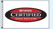 Individual Flag On Replacement Staff - For Cluster Set (Toyota Certified)