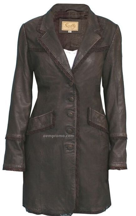 Ladies Washed Lamb Leather Jacket (S-2xl)
