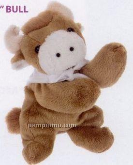 Laying Bull Beanie Stuffed Animal