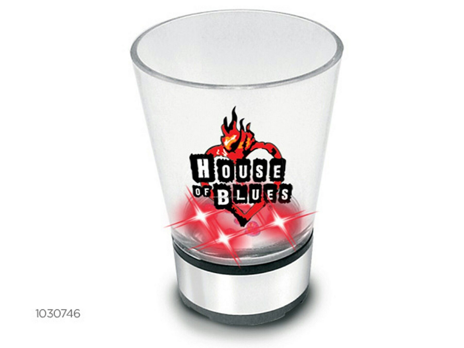 Light Up Plastic Shotlightz With Dice - 1 1/4 Oz. With Red Leds And Sound