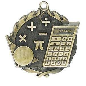 "Medal, ""Math"" - 1-3/4"" Wreath Edging"