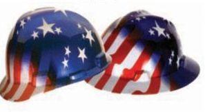 Msa Freedom Full Brim Hard Hat - American Stars & Stripes Design
