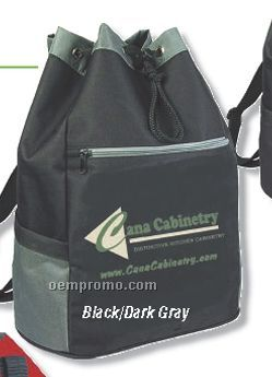 """Q-tees Deluxe Drawstring Backpack (14""""X18""""X8"""")"""