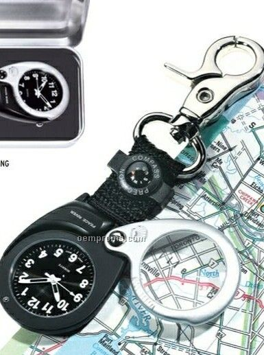 The Magnifier Pocket Watch W/ Decorative Compass & Magnifying Glass