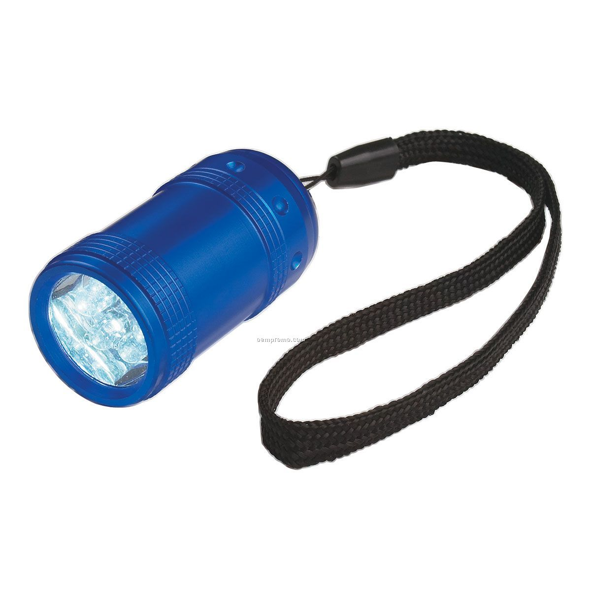 Square Light Up Flashlight W/ 6 Leds - Blue