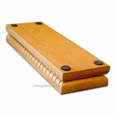Blank Folding Pine Wooden Nametag Organizer In Natural Pine